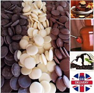 Belgian Chocolate Fountain for melting Milk Dark White 500g 1kg fondues desserts