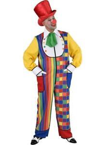 Clown Pierrot Harlekin Kostüm Kleid Frack Overall Kasper Clownkleid Clownkostüm