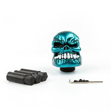 Universal Manual Operation Car Gear Shift Knob Shifter Lever Resin Skull Blue K