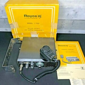 Vintage  Royce I-700CB 25 Watt - VHF Marine CB Radio  - CIB with Paperwork