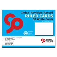 Cherry Index/Revision/Ruled Card Pad A6 (148mm x 105mm) 50pages 350gsm