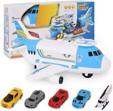 Transport Flugzeug Spielzeug, Transportflugzeug 4 Autos + 1 Hubschrauber Set Neu