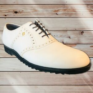 FootJoy Classics White Spikeless Men's Golf Shoes Men's Size 10B 55210 USA
