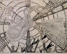 SIMORGH légende EAU FORTE Art Moderne K.PARVIZ XXème Iran Perse Orient