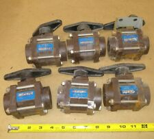 Lot of 6) DRESSER NIL-COR BALL VALVES Plastic valve with handle