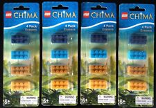 New Lego Chima Erasers 4 X PACKS Brick Shape Stationary Rubbers Party Bag Gift