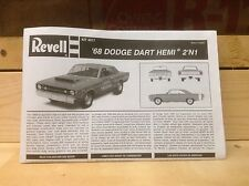 1968 Dodge Dart GTS Hemi Instructions, 1/25 Scale Revell