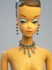 Barbie Repro Vintage FR Handmade Necklace Earrings Rhinestone Jewelry NE100023