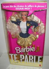 #2083 NRFB Mattel Foreign SAMPLE Te Parle French Super Talk Barbie Doll