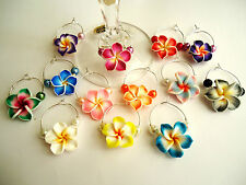 Frangipani Wine Glass Charms Wedding Birthday decoration~ party favour gift idea