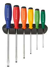 PB Swiss Tools PB 8240.RB Screwdriver Set Slotted with Wall Rack SwissGrip
