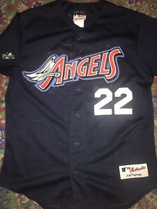 VTG 90's Authentic California Anaheim Angels Majestic Stitched Baseball Jersey