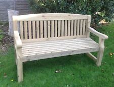 Engraved 5 Foot Softwood Bench -  ideal memorial, retirement, wedding present