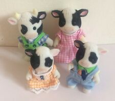 Sylvanian Families 'Friesian' Cow Family 4 Figure Bundle