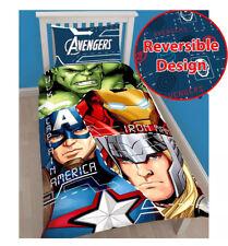 Marvel Avengers Tech Unique Housse De Couette Enfants Lit Hulk Thor Iron Man America