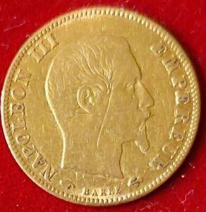 Francia 1859 Moneta Oro 5 Franchi Napoleone III°