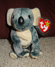 TY Beanie Baby Eucalyptus Blue & Off White Bear PE Pellets 1999 Mint - TH