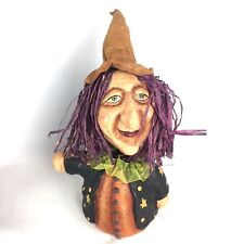 Halloween Witch Pumpkin Body Purple Raffia Hair