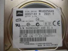 Toshiba 60gb MK6025GAS FKN5GA A5A000465 IDE