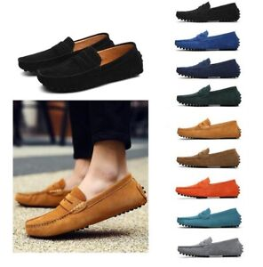 New Men Driving Loafers Faux Leather Slip On Casual Boat Shoes Big Size 38-49 L