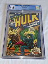 INCREDIBLE HULK #182 Marvel Comics 1974 CGC 4.5 Third Appearance Wolverine