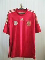 Spain team 2014/2015 Home Size XL Adidas shirt jersey maillot football soccer