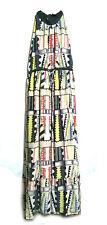 Geometrical Printed Silk Maxi Dress