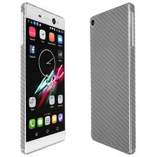 Skinomi Silver Carbon Fiber Skin+Clear Screen Protector for Sony Xperia XA Ultra