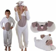 Super Soft Pug Dog All-in-one Sleepsuit, Onezee, Slippers or Eyemask