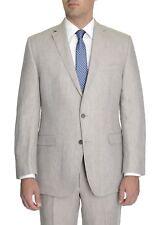 S Calvin Klein 100 Linen Striped Suit for Men - 44 R