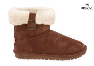 BEARPAW Womens Abby Snow Boot Hickory - Size 6 - 1257W-220-M060 - Damaged BOx