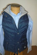 Barbour Quilted Foreland Hooded Fibre Down Gilet Vest NWT US size 10 $225 Navy
