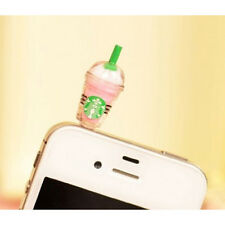 Starbucks Coffee 3.5mm Headphone Anti-dust Plug Cap for iPhone 4 4S Pink ZH