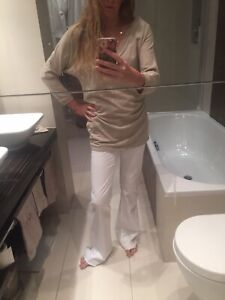 Juicy Couture white long flared jeans M