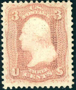 1867 3¢  C GRILL  #83 OG REPERF VF APPEARANCE CAT $5,500 CERT
