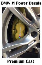 4x Premium M Power Brake Caliper Decal Sticker fits on BMW M series Colour:White