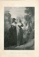 Much ado about nothing grabado de la obra de Shakespeare.