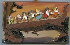 Disney 80th Snow White & 7 Seven Dwarfs Crossing Log Super Jumbo Boxed Le300 Pin