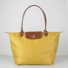 Longchamp New Le Pliage Nylon Tote Handbag Yellow Large