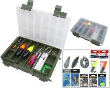 SEA FISHING TACKLE SET INCLUDES TACKLE BOX FLOATS HOOKS WEIGHTS FEATHERS RIGS
