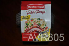 Rubbermaid Take Alongs Small Bowls 26 oz. 5 pcs. Containers + Lids Brand New