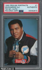 Muhammad Ali Signed 1992 Proline Portraits #1 AUTO w/ Factory Stamp PSA/DNA