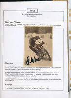 565173 / Motorrad Beleg Autogramm Gernot Weser