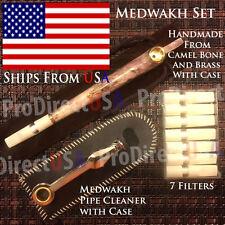 Traditional Iranian Camel Bone Medwakh Arab UAE Dokha Tobacco Smoking Pipe SET