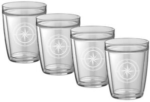Kasualware . Doublewall Short Drink  Compass Point Set/4