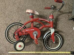 Vintage Radio Flyer Retro Red Children's Bicycle Model #35 W Training Wheels VGC
