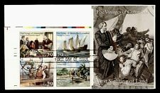 DR WHO 1992 CHRISTOPHER COLUMBUS 500TH ANNIVERSARY PLATE BLOCK FDC C212723