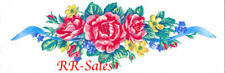 Rose Bud Flower Boarder Ribbon New 12 Sheets Wall Decor Imperial Instant Stencil