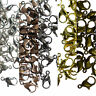 50 Metal Lobster Claw Clasps 12mm SILVER GOLD GUNMETAL BRONZE COPPER PLATED