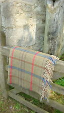 Cotswold woollens- Lambswool merino throw-Gloucestershire check